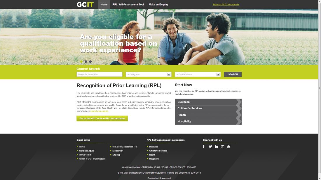 TAFE Queensland Gold Coast - Recognition of Prior Learning